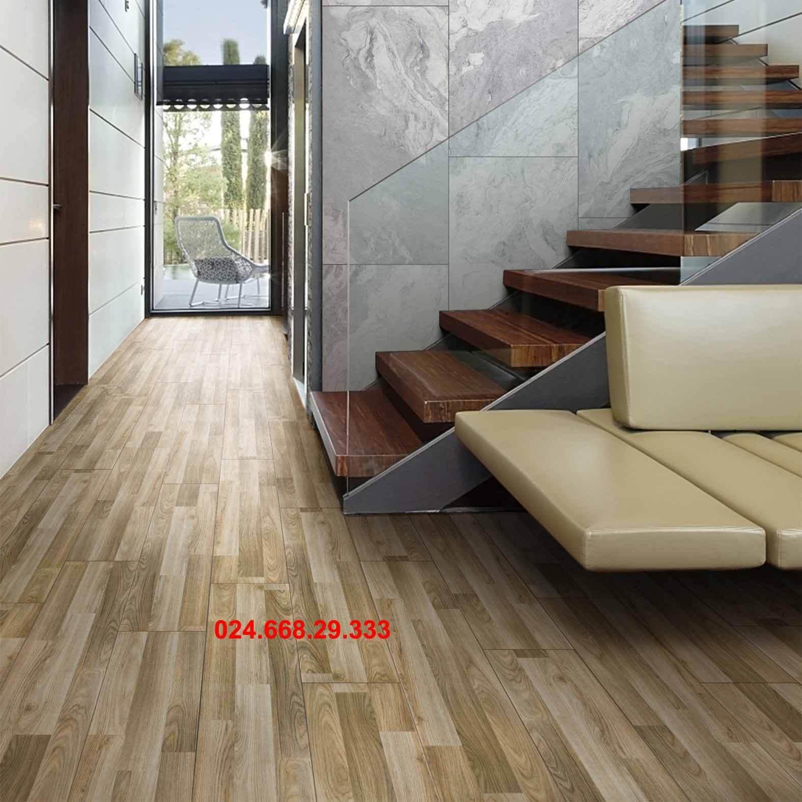 gạch giả gỗ 20x100 mã 2021 lát hành lang phòng chờ