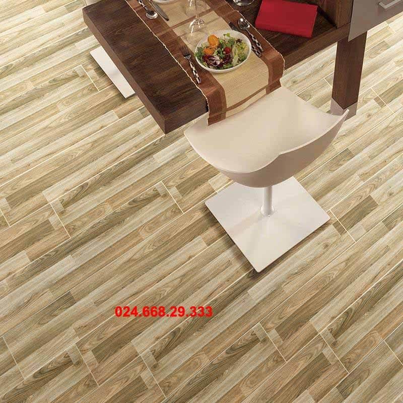 gạch giả gỗ 20x100 mã 2021 lát phòng bếp phòng ăn