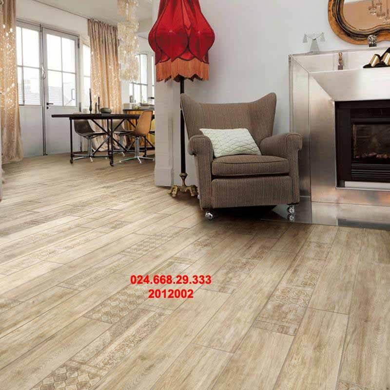 gạch sàn gỗ 20x120 mã 2012002 chụp phòng bếp
