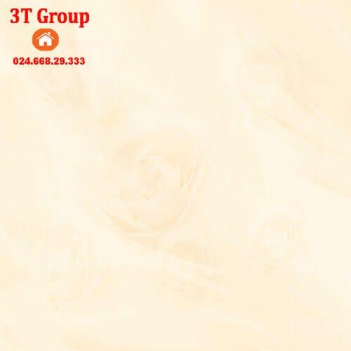 gạch 60x60 Prime 23970 màu vàng nhẹ in hình hoa hồng 3D