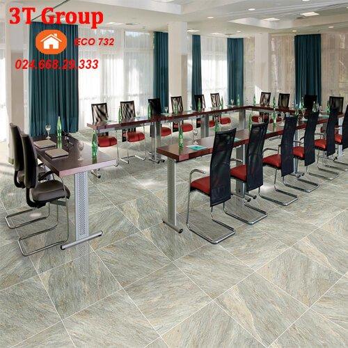 gạch 60×60 viglacera granite ECO 621 phối cảnh phòng họp