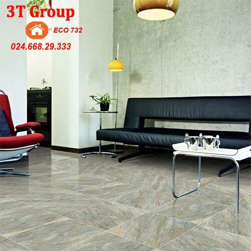 gạch 60×60 viglacera granite ECO 621 phối cảnh phòng khách