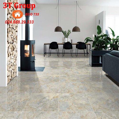 Gạch 60×60 viglacera granite ECO 622 lát phòng khách