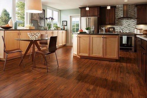 gạch giả gỗ Prime 15x80 lát phòng bếp