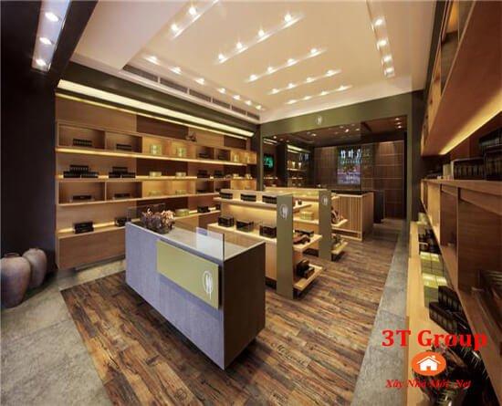 gạch giả gỗ 15x80 8814 phối cảnh phòng bán hàng