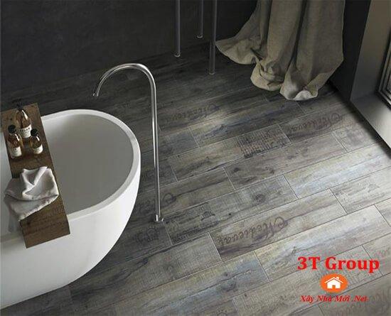 gạch giả gỗ 15x80 8815 phối cảnh phòng tắm