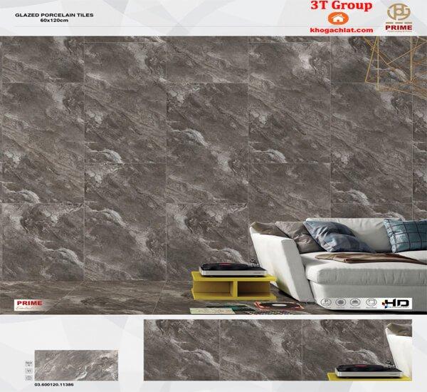 gạch 60x120 ốp tường giả đá tự nhiên Prime 11386 xanh đậm