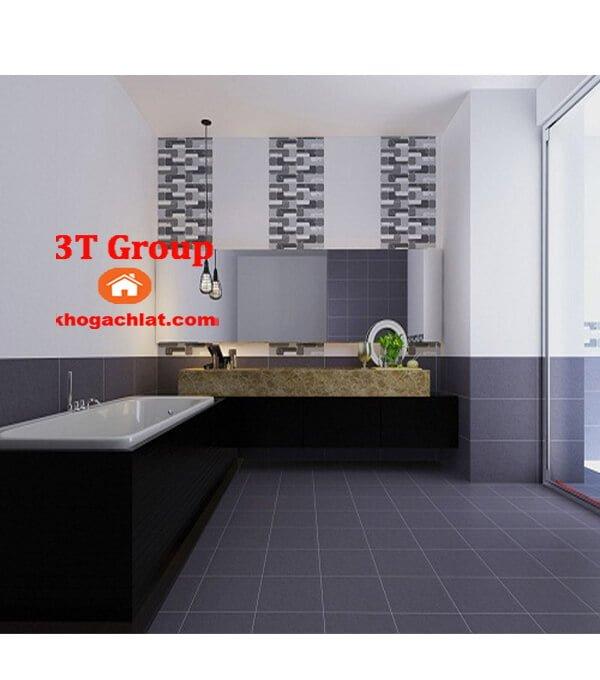 gạch vân bê tông, gạch vân xi măng 60x60 mã 6604 phối cảnh phòng tắm