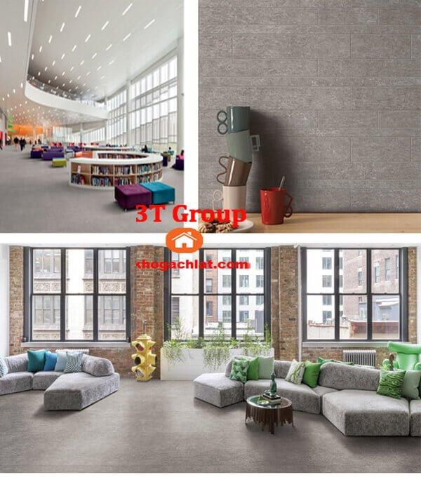 gạch vân bê tông, gạch vân xi măng 60x60 mã 6609 lát thư viện, phòng khách