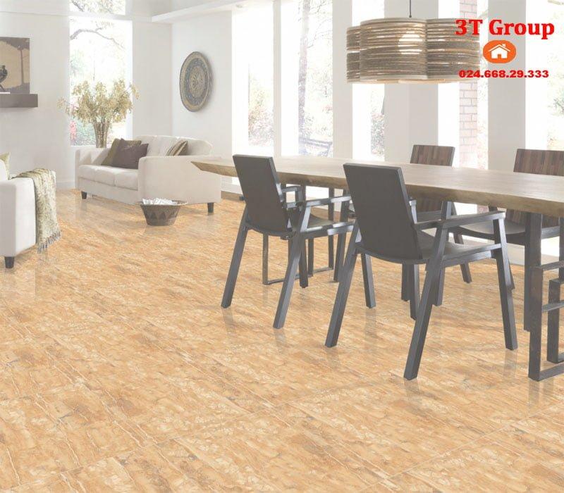 Gạch 60x60 catalan nano 6969 phối cảnh phòng bếp